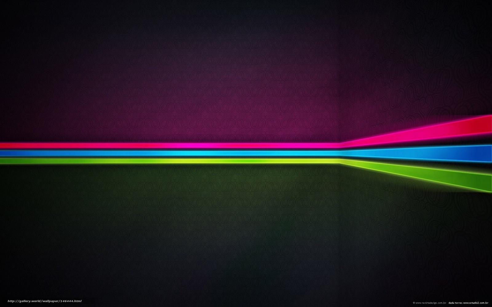 HQ líneas, luces de neón, negro, 1920x1200 imagen / estilo