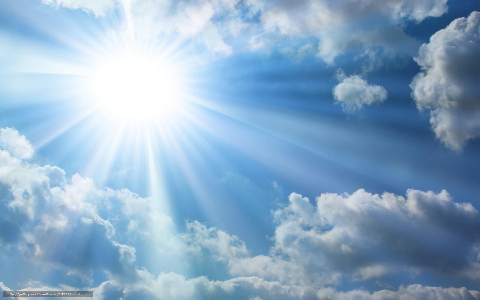 Hq cielo, sol, nubes, rayos, 2560x1600 imagen / misceláneo
