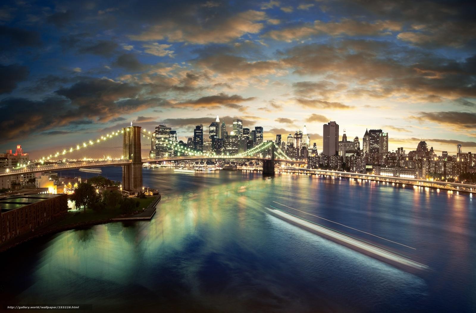 Город ночь панорама 8600x5656 город