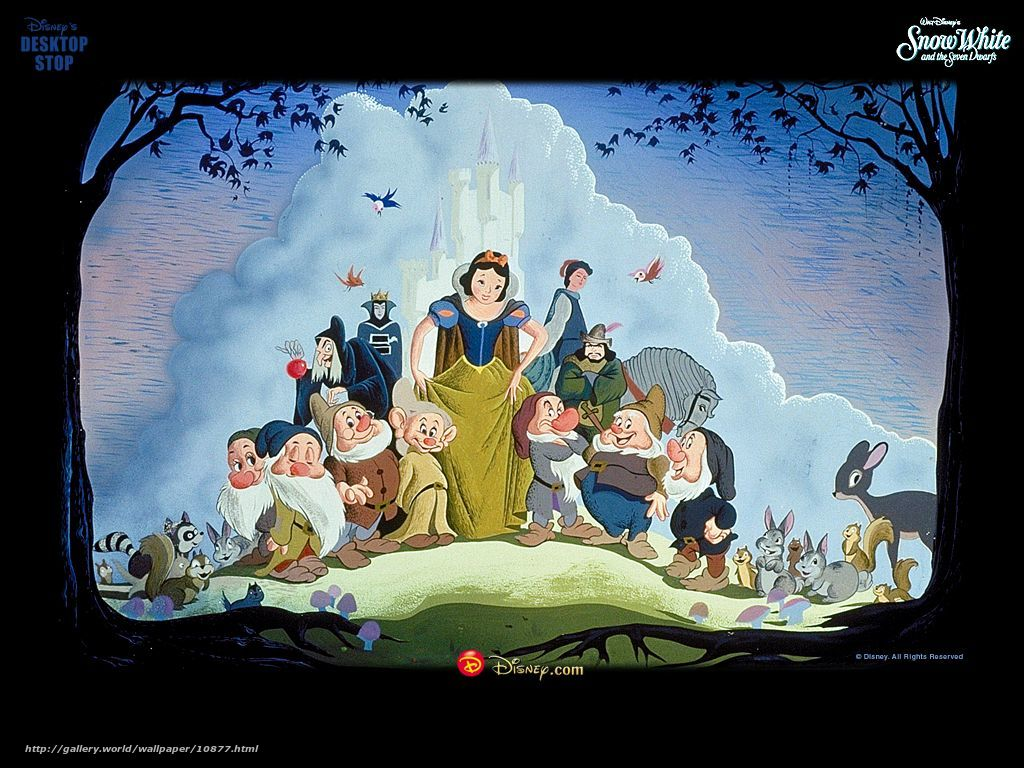 Download Wallpaper Snow White And The Seven Dwarfs