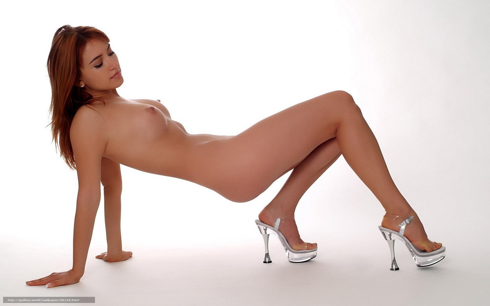 Девушка голая в прозрачном фоне