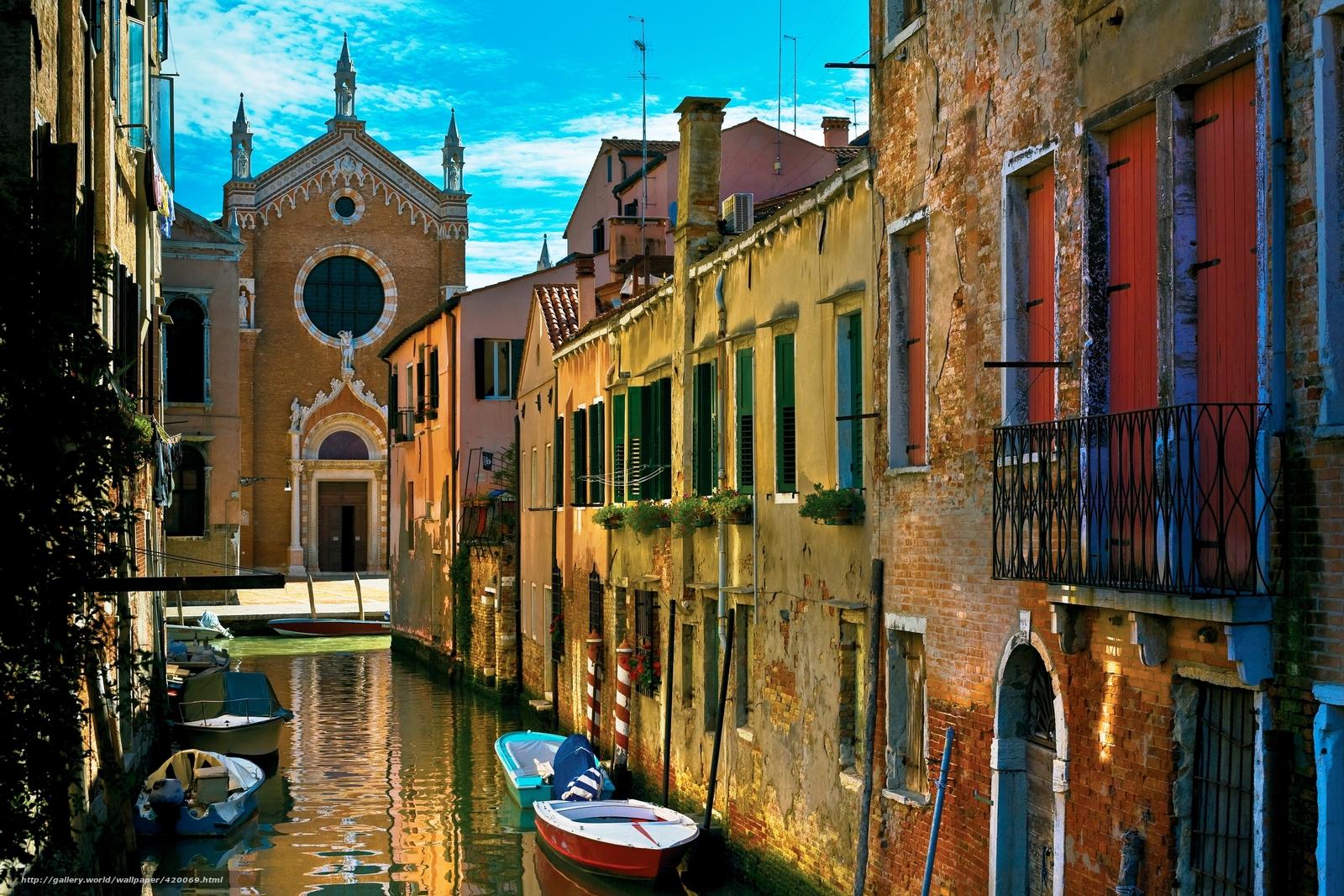 Венеция италия дома старые улица