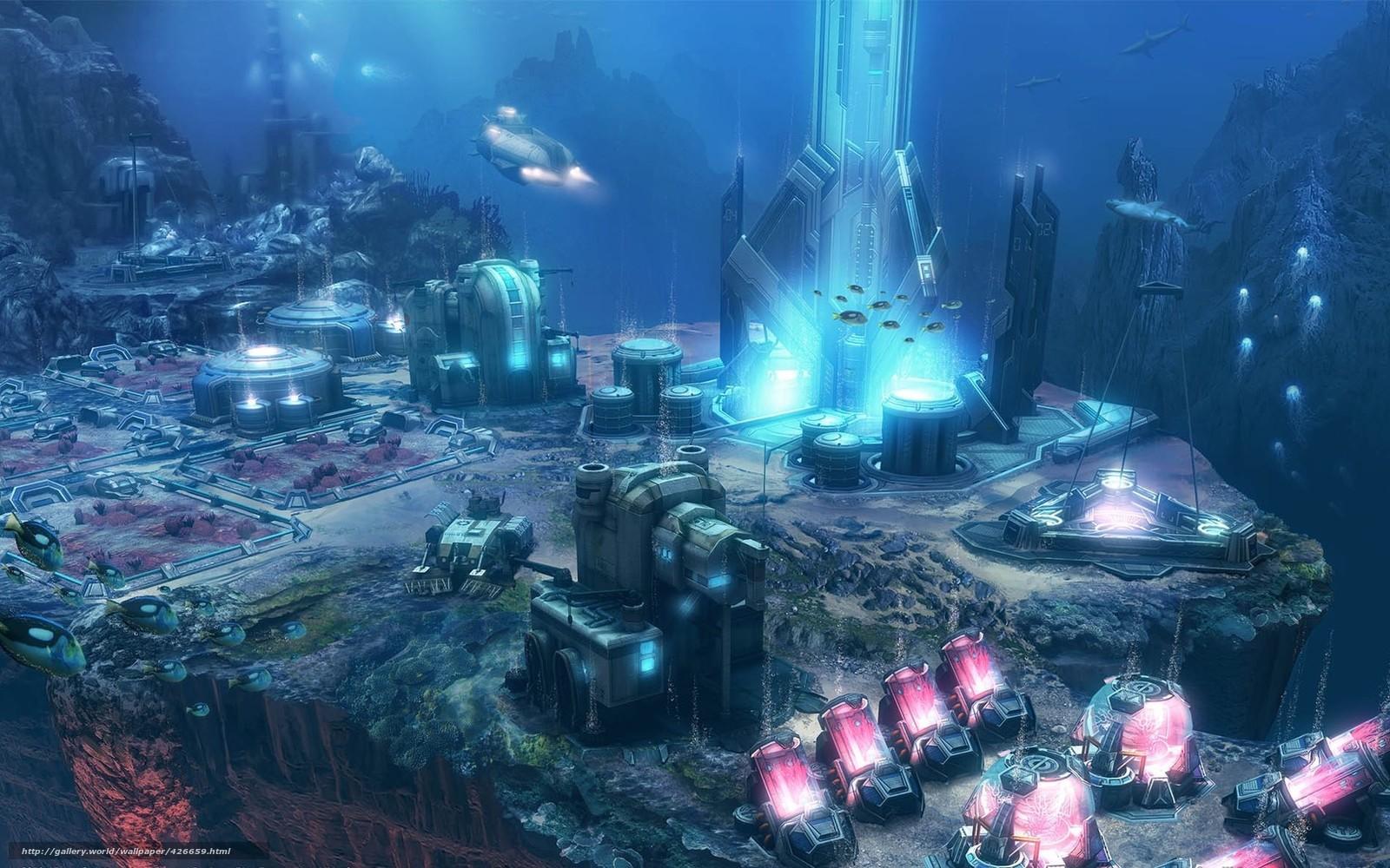 Вода подводный мир станция город