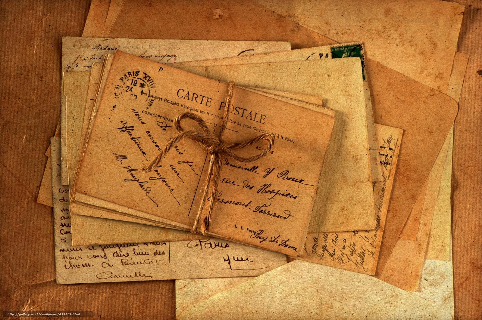 винтаж, письма, открытки, бумаги, старые, конверты, фото, обои, картинка #439869 - www.GdeFon.ru