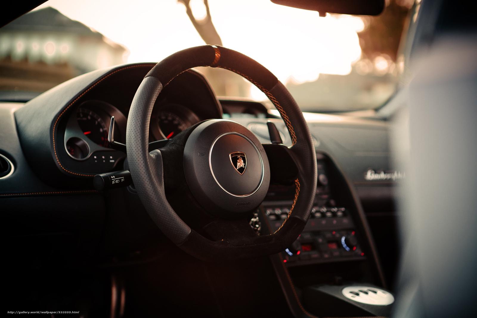 Скачать руль, Lamborghini, салон…
