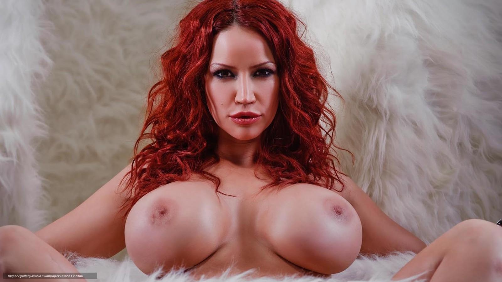 Рыжая с большой грудью смотреть онлайн 3 фотография