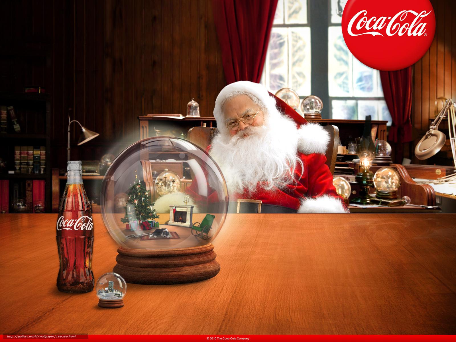 Картинки на рабочий стол 159250_coca-cola_novyj-god_santa_1600x1200_