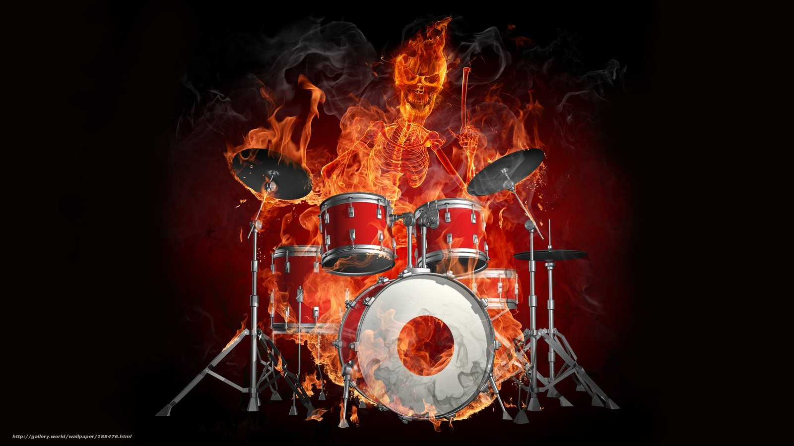 Demonic Skull Pics http://www.gdefon.com/download/drums_fire-demon_skull/188476/2560x1440