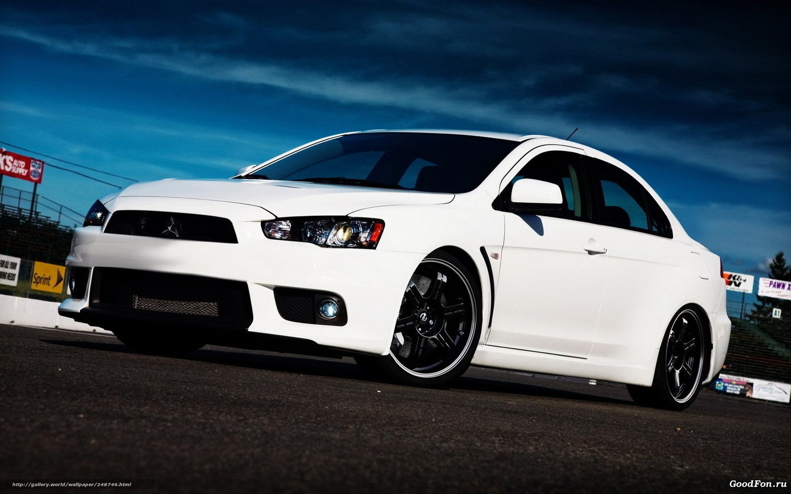 white mitsubishi evo x wallpaper