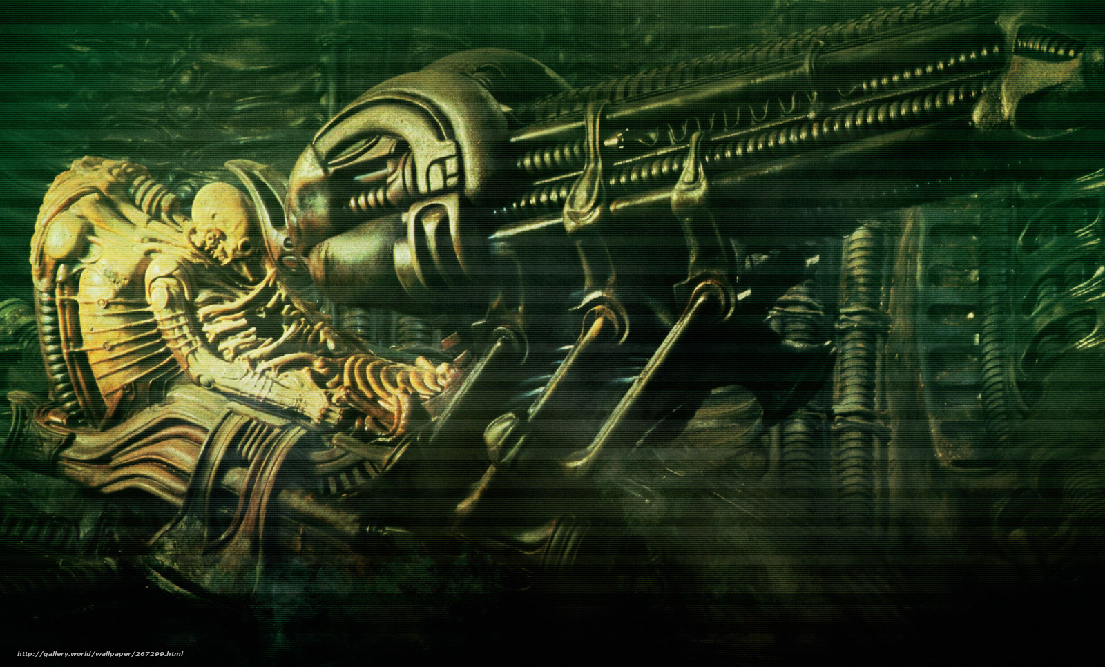 Download wallpaper foreign,  alien,  Space Jockey free desktop wallpaper in the resolution 2650x1600  picture 267299