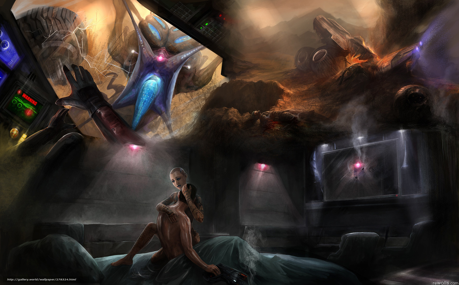 ... wallpaper Mass Effect, girl, sex, Fan Art free desktop wallpaper in the