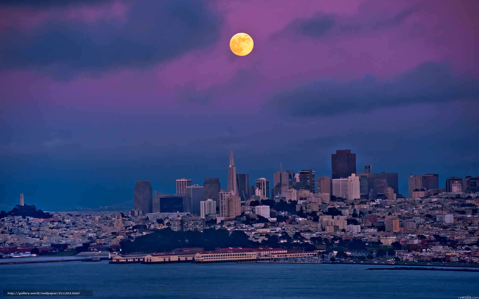 ... ://www.gdefon.com/download/San-Francisco_night_moon/311203/2560x1600