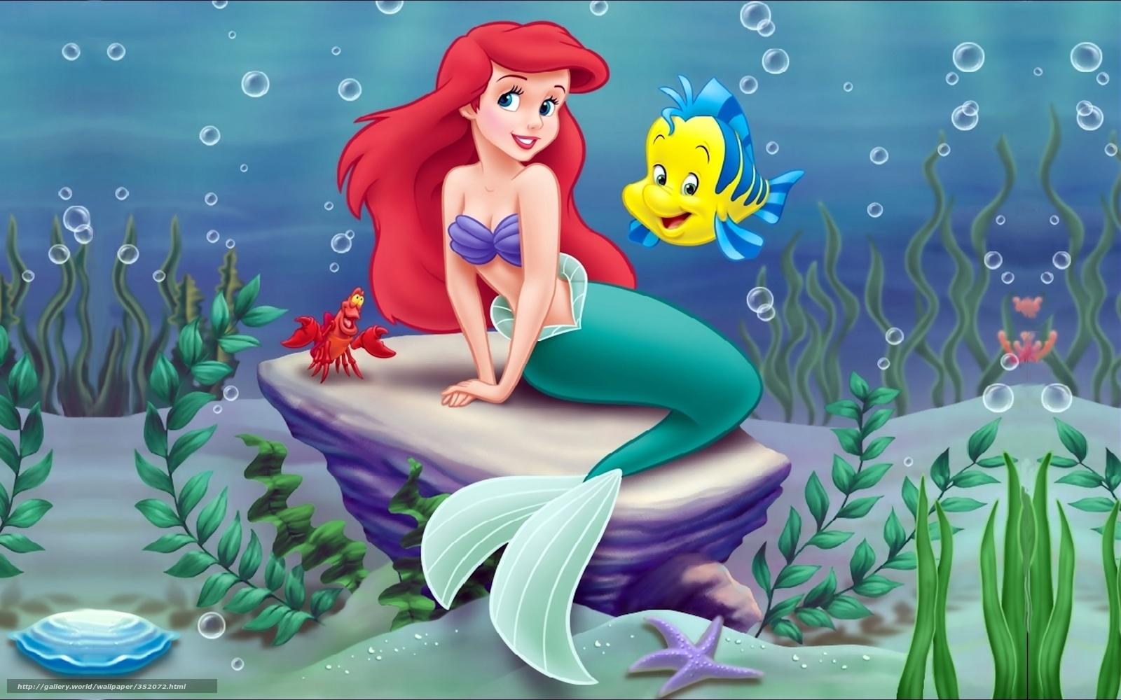 Download wallpaper Little Mermaid  Ariel  Disney  Cartoon free desktop    The Little Mermaid Ariel Wallpaper