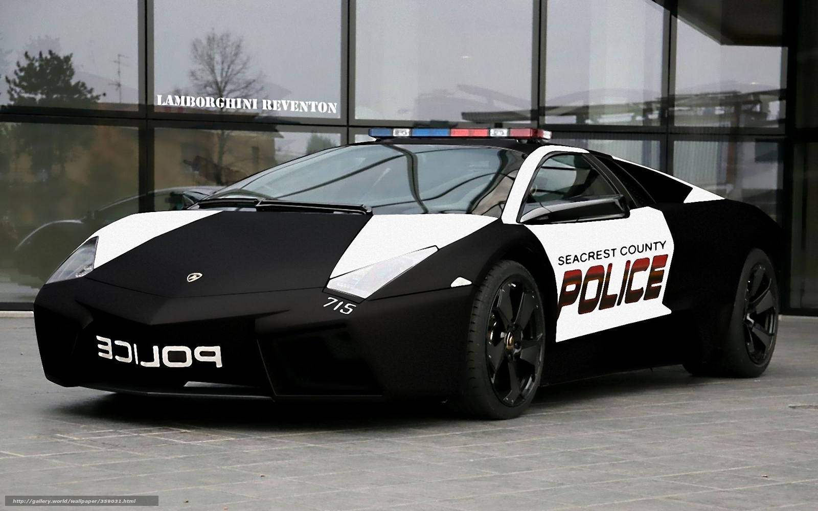 Lamborghini Reventon Police Car Wallpaper 762664