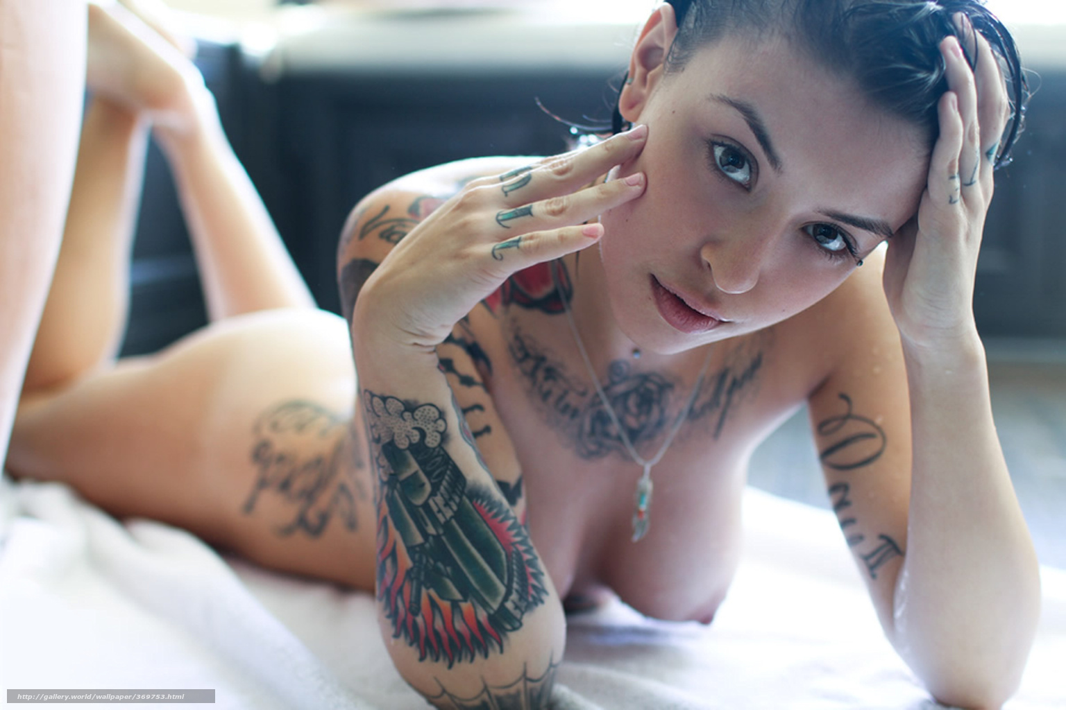 Awesome tattoo nude lady what