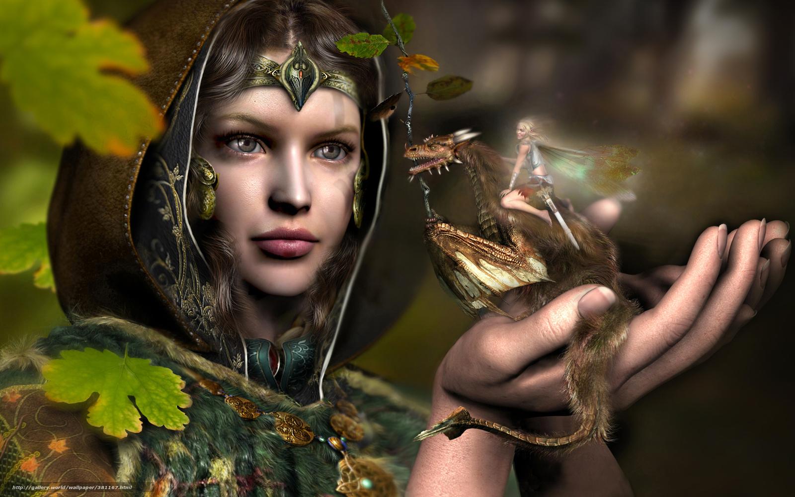 Descargar gratis Fantasa,  nia,  dragn,  elfo Fondos de escritorio en la resolucin 1920x1080 — imagen №381167