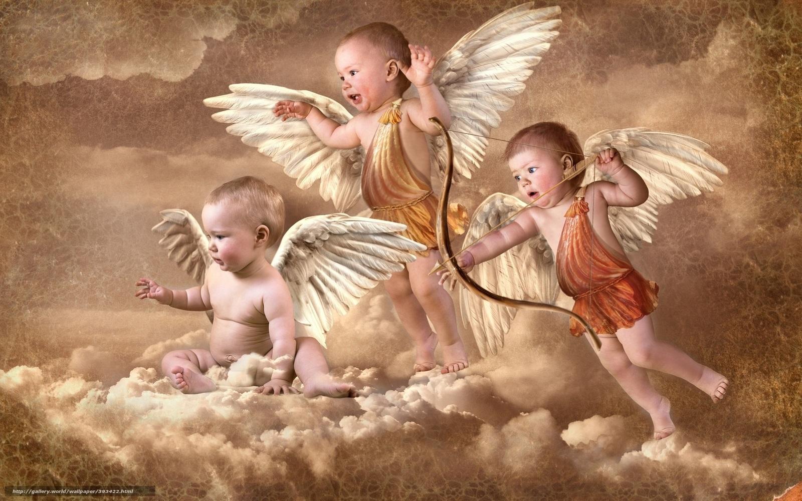 Скачать обои ангелочки...