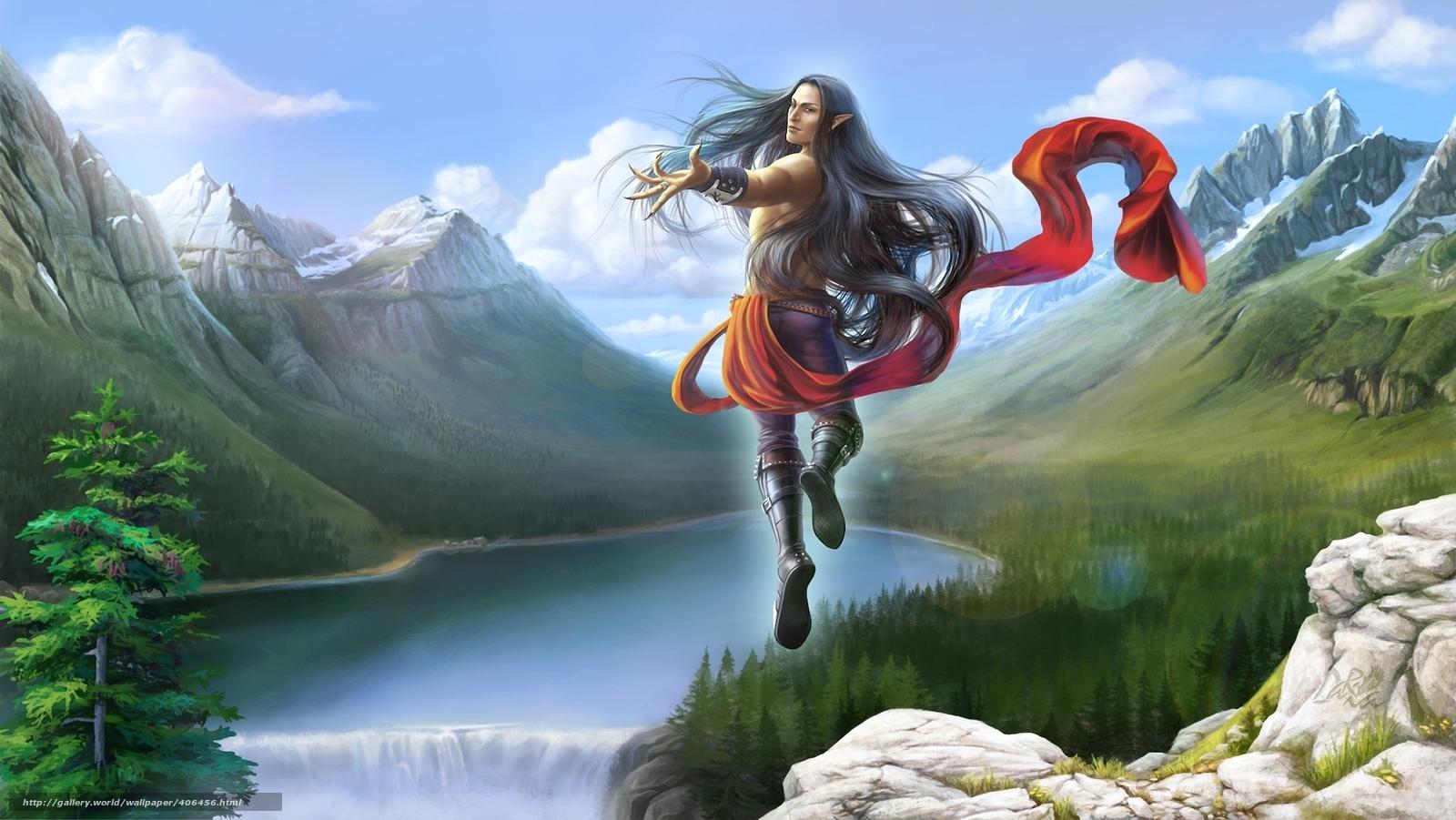 Descargar gratis elfo,  magia,  vuelo Fondos de escritorio en la resolucin 1920x1081 — imagen №406456