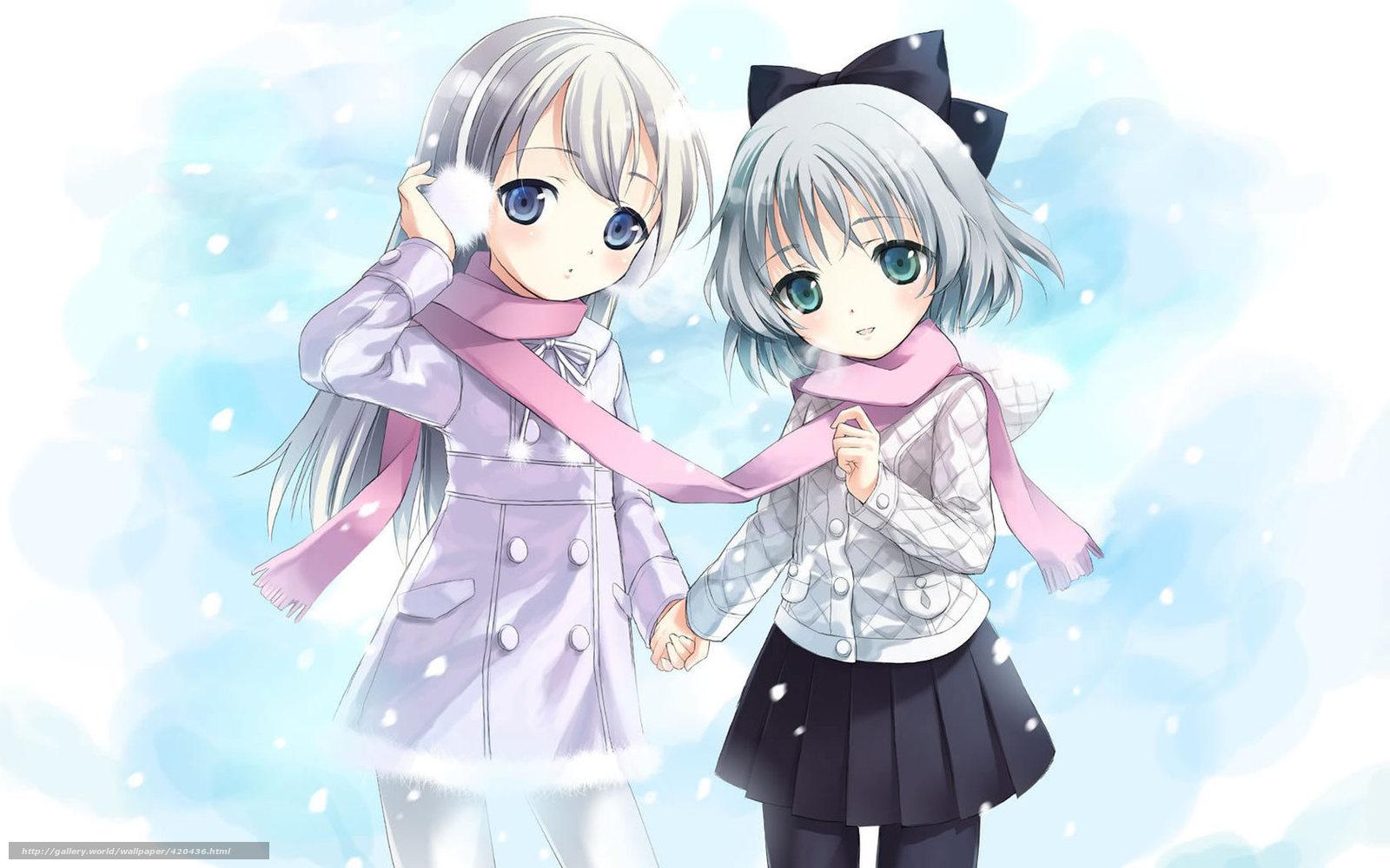 картинки аниме подруги: