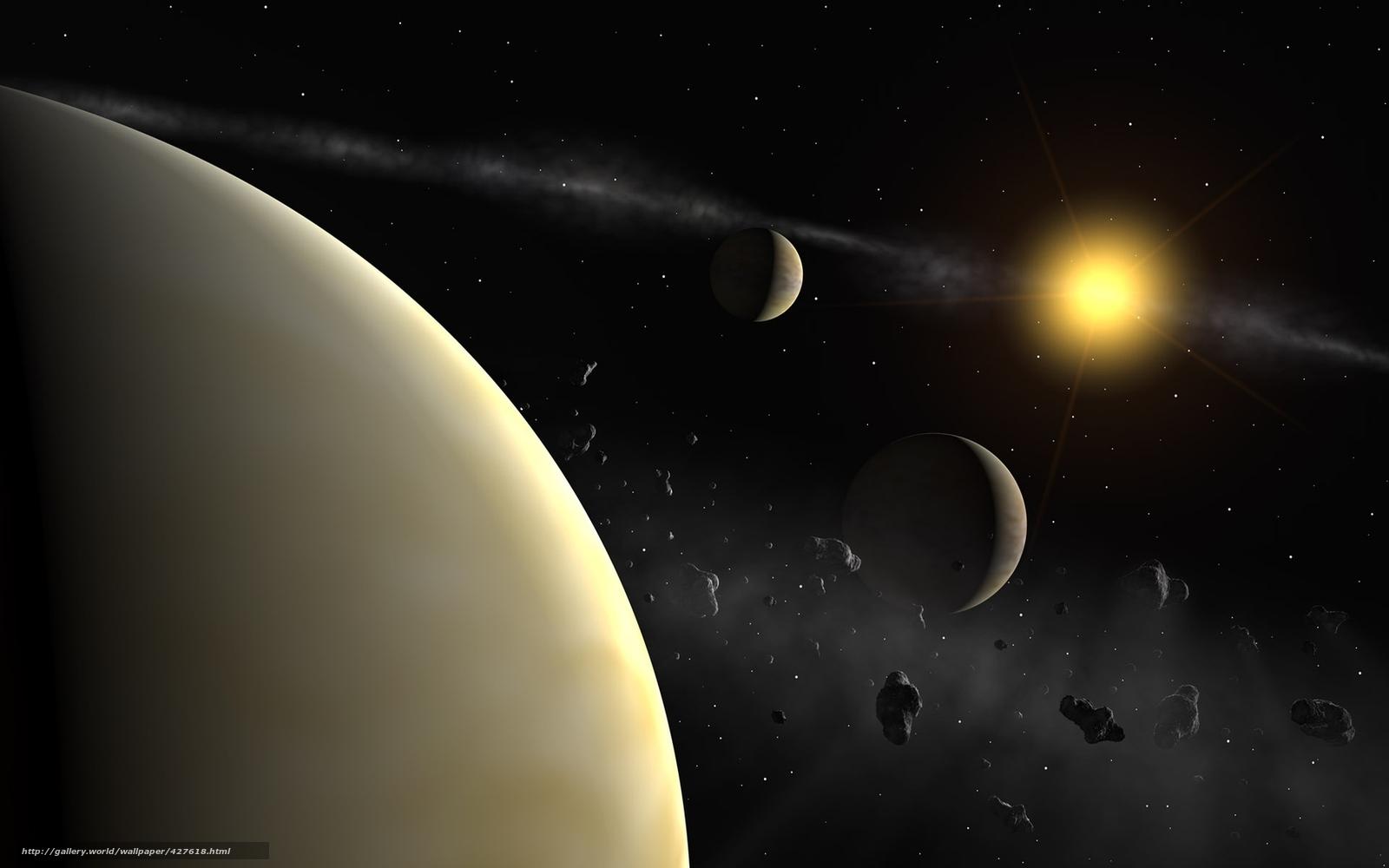 Скачать планета, звезда, спутники, фото, обои, картинка #427618 - FxFp