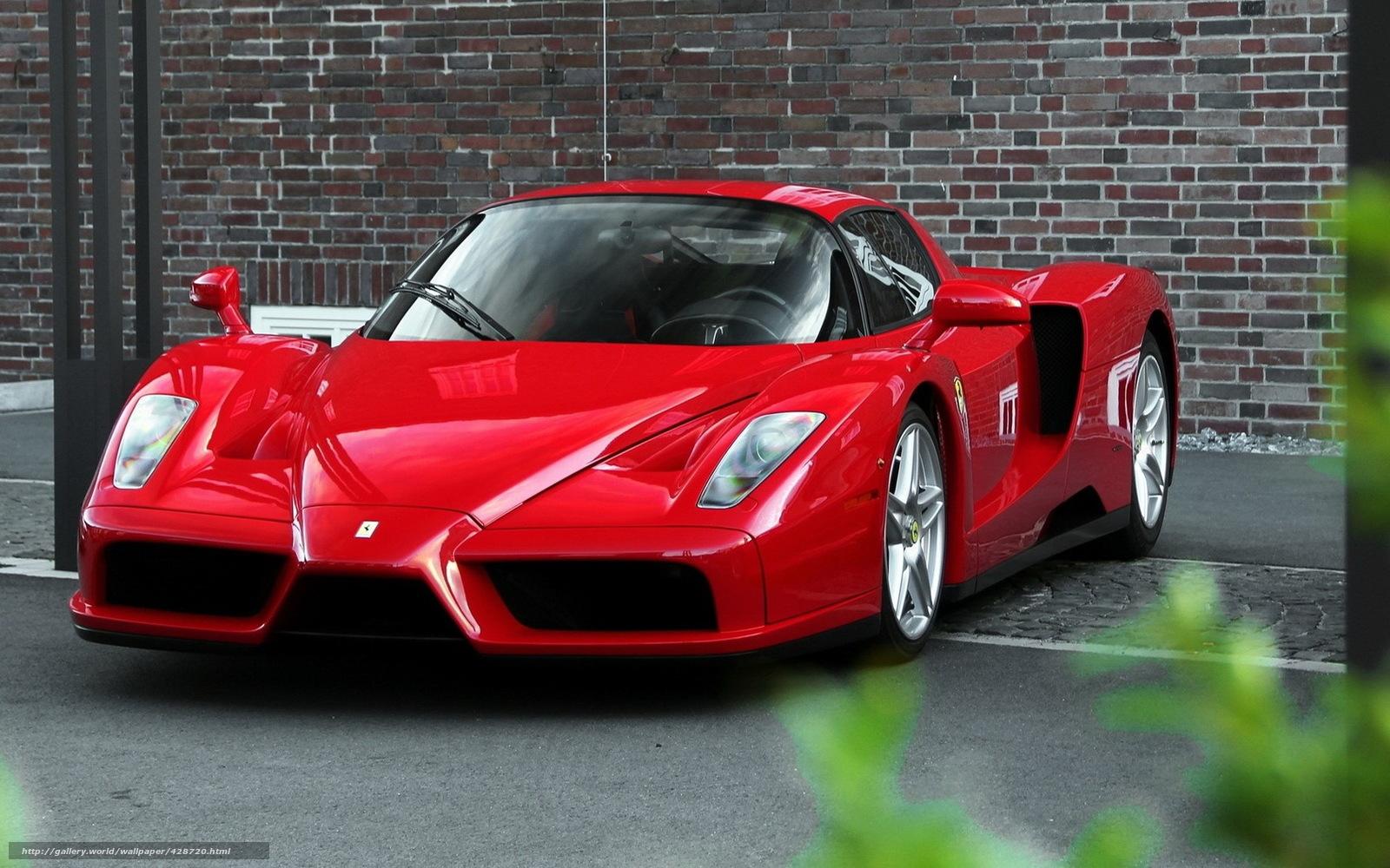 Обои красный Ferrari Enzo просмо…