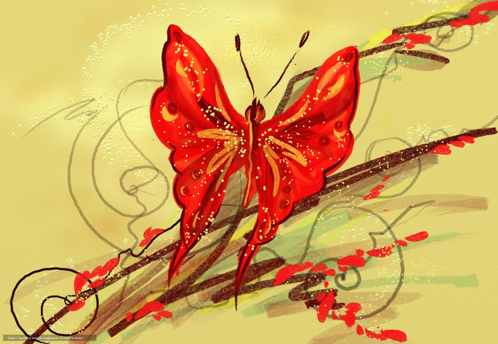 Цветы картинки стилизация 6