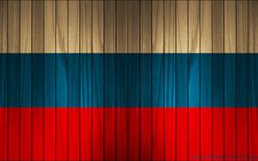 Обои флаг дерево россия