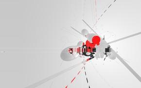 крест, Amplifier404, штрихи, trance, cinema 4d, minimal картинки на рабочий стол.