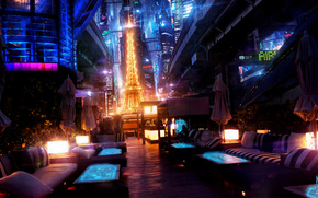 night, Paris, Eiffel Tower, future, lights, michael governors um