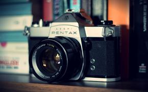 фотоаппарат, pentax, camera, камера, объектив, old, gdefon