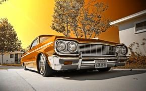 1964, Chevrolet, Impala, Convertible, Lowrider, шевроле, импала, gdefon